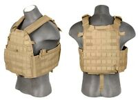 CA-311T: Lancer Tactical 6094 Plate Carrier Vest, Coyote Brown
