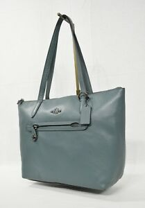 Image Is Loading Nwt Coach 38312 Pebble Leather Taylor Tote Dark