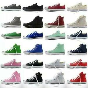 Womens-Mens-Authentic-Classic-Athletic-Sneakers-Low-High-Top-Casual-Canvas-Shoes