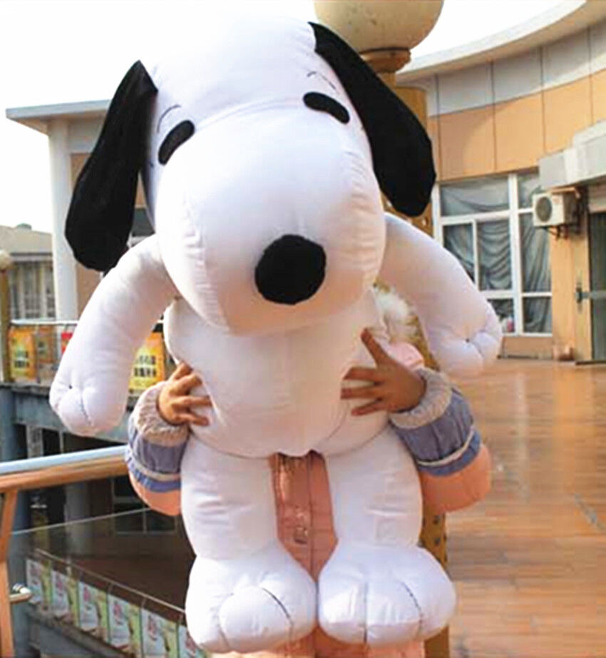 41.3'' Snoopy Dog Plushly Toy Tie White Peanut Big Stuffed Baby Xmas Pillow Gift