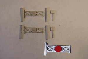 P-amp-D-Marsh-N-Gauge-N-Scale-B136-Singletrack-level-crossing-kit-requires-painting