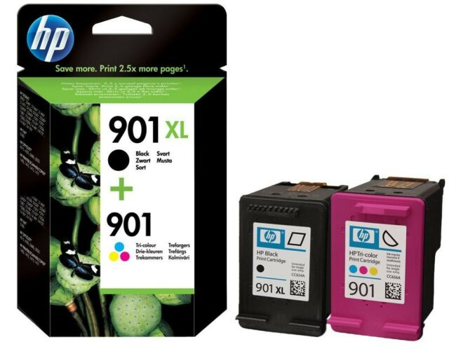 HP 901XL Black + 901 XL Colour For Officejet 4500 4500W  Remanufactured Inkjet.