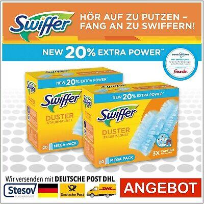 4 pañuelos Swiffer polvo magnético pañuelos nachfüller
