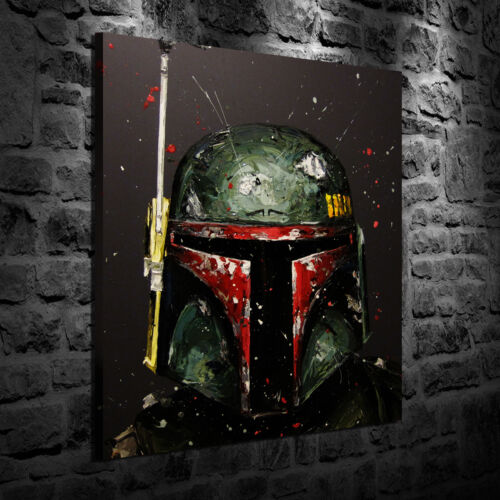 Oil Painting HD Print Wall Decor Art On Canvas Star Wars Boba Fett 20x24inch