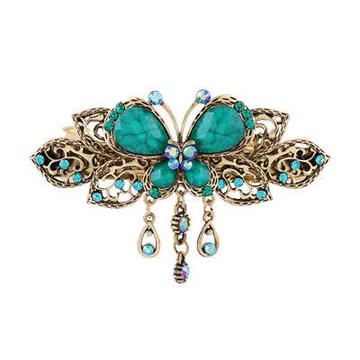 Chinese Women Retro Butterfly Tassel Hairpin Hair Clip Barrette Wedding Jewelry