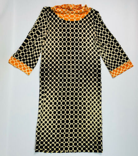 Vintage Goldworm Italy 60s 70s 10 Dress Shift Bell
