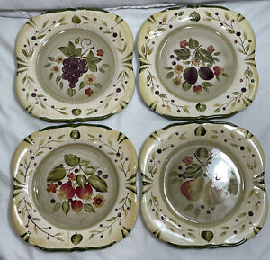 (Set of 4) Certified International La Toscana Pamela Gladding Dinner Plates 11""