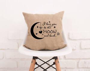Pillow Quotes Burlap Pillowcase. I Love You Quote Pillow Cover. Nursery Pillow  Pillow Quotes