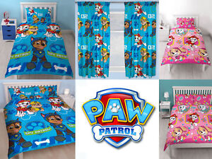 Paw-Patrol-kids-bedroom-duvet-quilt-cover-set-choice-of-matching-curtains-Gift
