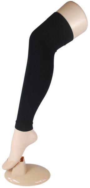 Stulpen Bein Stulpen Strumpfhose Strümpfe Overknee-Stulpen in schwarz