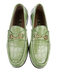 New Gucci Men's Horsebit Crocodile