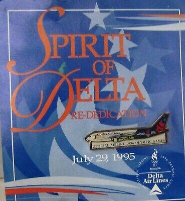 British Team Atlanta 1996 Delta Airlines Vintage enamel pin badge Lapel
