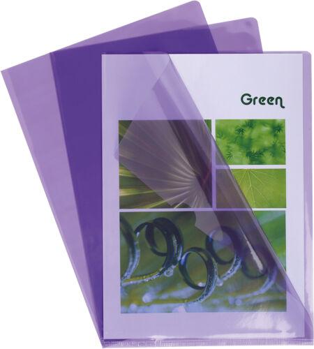 0,13 mm A4 violett EXACOMPTA Sichthülle PVC glatt oben // rechts offen