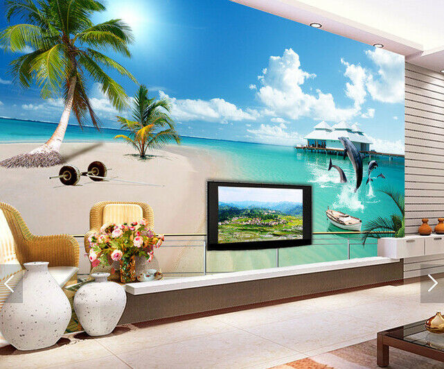3D Coco Beach 5445 Wall Paper Wall Print Decal Deco Indoor Wall Mural CA