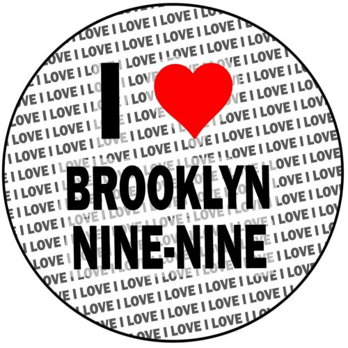 "Round 8/"" 20cm Icing Cake Topper Decoration I Love Brooklyn Nine-Nine"