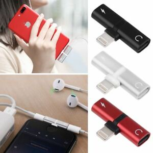 For-iPhone-X-8-7-Dual-Audio-Headphone-Splitter-Adapter-Charger-Support-iOS11-Top