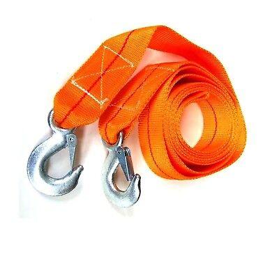 Abeschlepp Seil Bergegurt Stahlhaken Pannenhilfe 2 Sicherheitshaken Abschleppseil 8000 kg 8t 3m