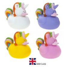 2 x UNICORN RUBBER DUCK BATH SQUIRTER Toy Kids Baby Shower Duckie Favour Gift UK