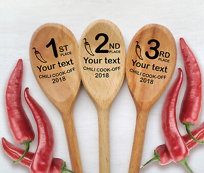 chili cook off engraved spoon