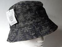 Hawaiian Print Men's M/l 22 Black Gray Sun Beach Hat