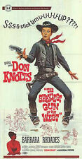 THE SHAKIEST GUN IN THE WEST original large RARE 3-sheet poster DON KNOTTS