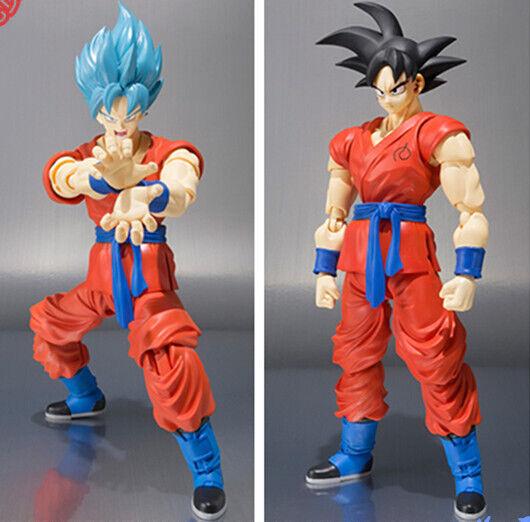 Dragon Ball Z Action Figures Son Goku God Super Saiyan SHF 150mm Anime Dragonbal