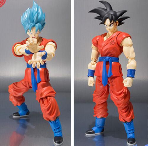 Figuras De Acción Dragon Ball Z Super Saiyan Son Goku Dios SHF 150 mm Anime Dragonbal