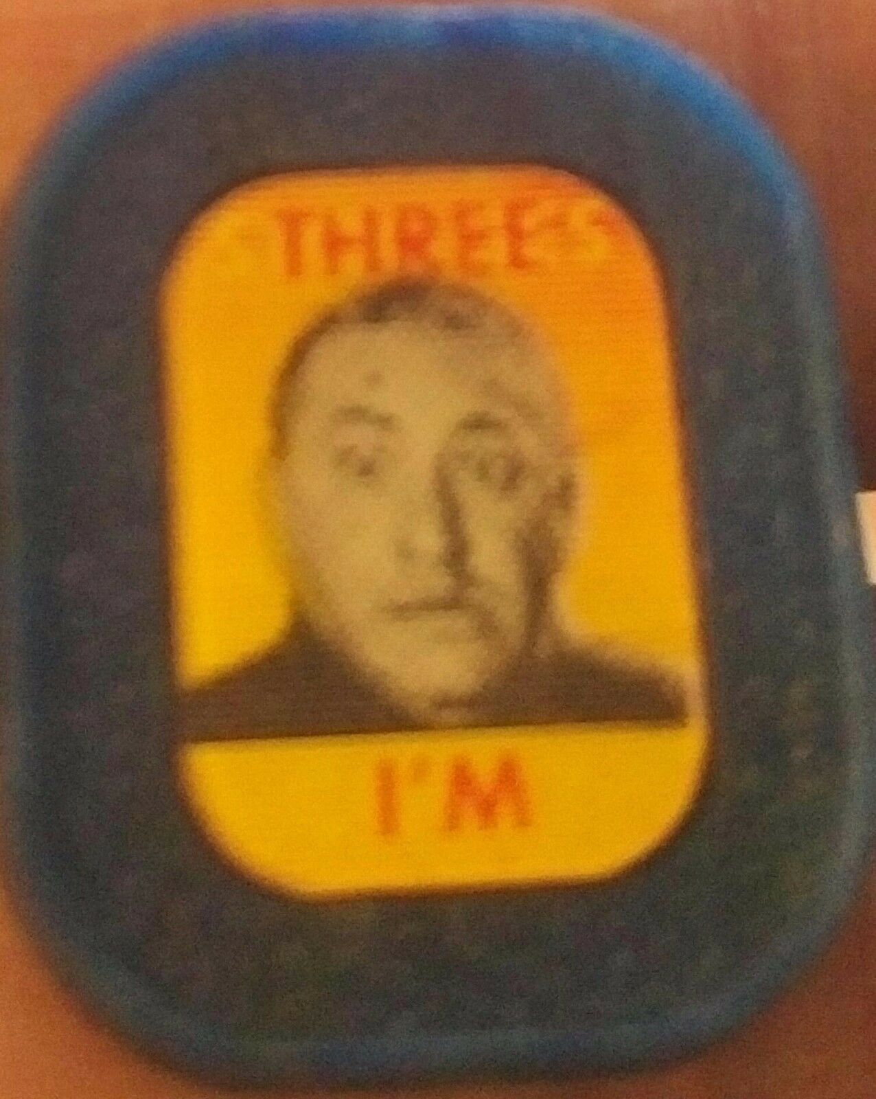 3 3 3 STOOGES   I'M CURLY  LENTICULAR FLASHER RING 8d561b