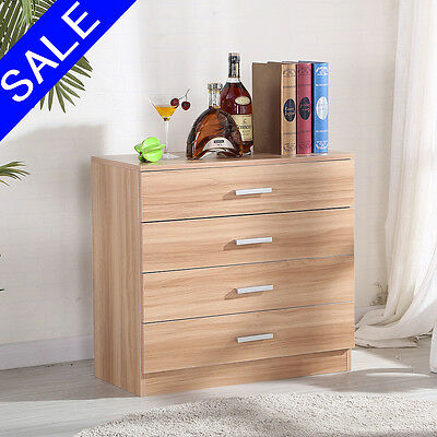 New Oak Chest of Drawers Bedroom Contemporary Furniture 4 Drawers