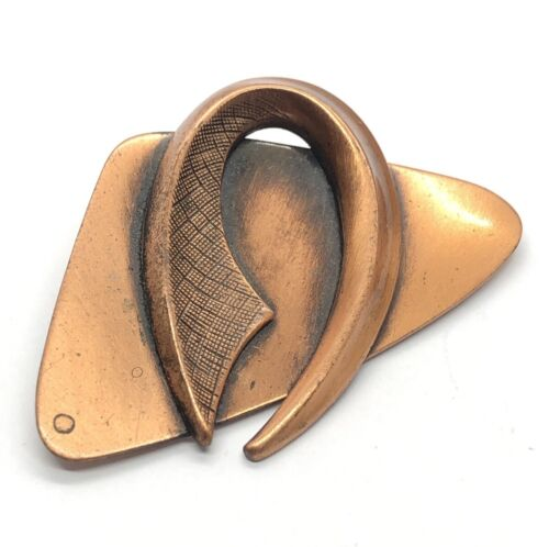 Copper Colored Metal Bird Pin Modern Style