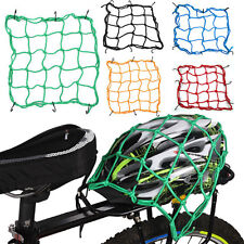 New Black Motorcycle Bike 6 Hooks Fuel Tank Luggage Net Web Bungee Helmet Mesh