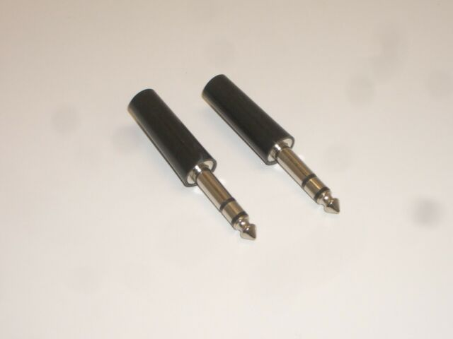 1 4in STEREO AUDIO PHONO PLUG CONNECTOR BAKELITE 40-8162 for sale online