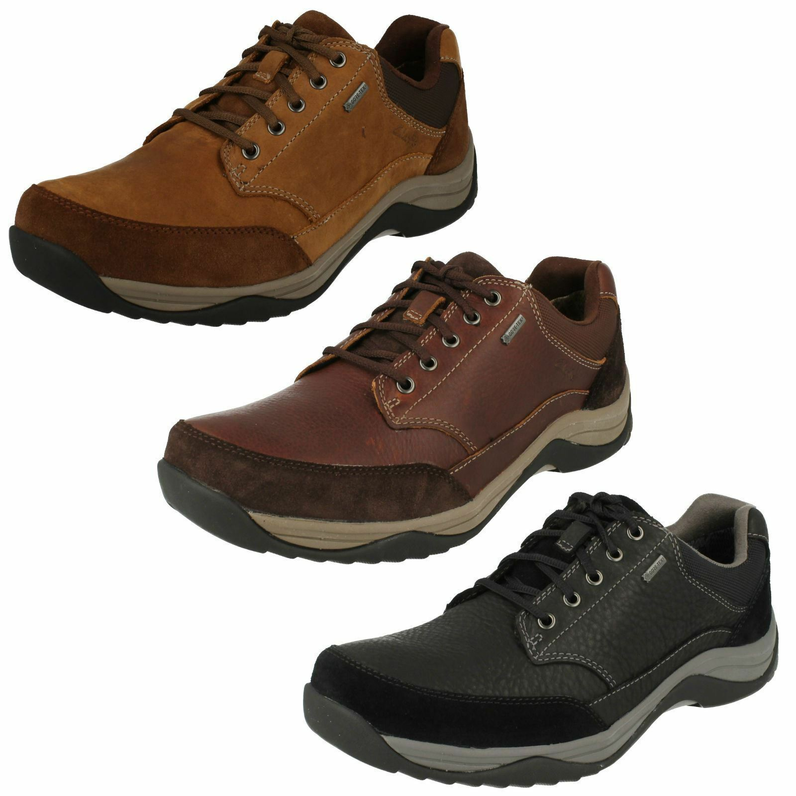 Clarks Mens Casual Gore-Tex Lace Up shoes Baystonego GTX