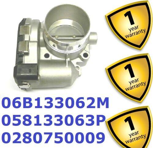 Throttle Body 06B133062M 058133063P Audi A4 A6 VW Passat Skoda Seat 1.8 T 1996