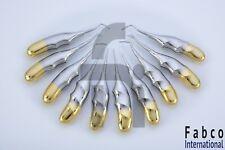 Dental Extraction Root Elevators 10pcs Finger Gold Coated Surgical Dental Inst