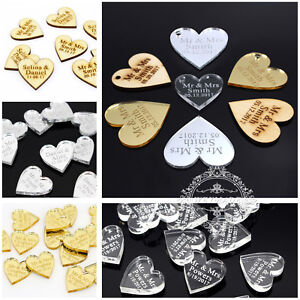 Multi-Size-Personalized-Engraved-Mr-amp-Mrs-Love-Hearts-Wedding-Table-Decor-Favors