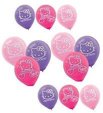 "(12) Hello Kitty Rainbow Latex Balloons Birthday Party Supplies Decorations 12"""