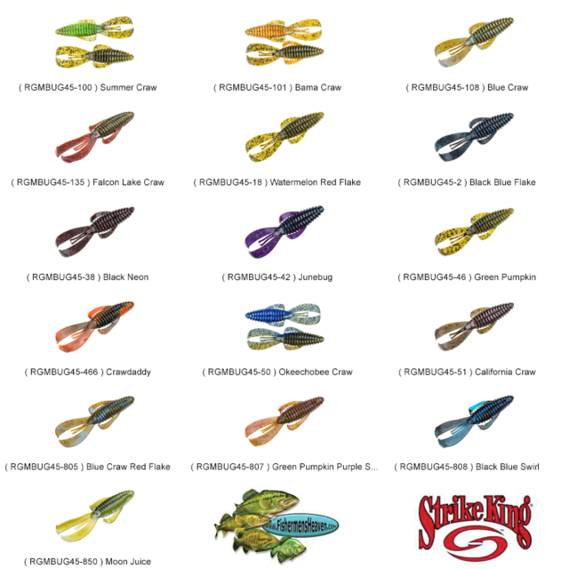 Strike King Tubes 2.75 Inch Bitsy Any 10 Color BT2.75 Soft Plastic Fishing Lures