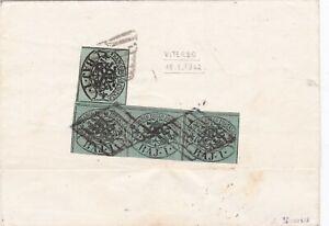 STATO-PONTIFICIO-lettera-da-Viterbo-1862-con-striscia-di-3-da-1-baj-1-baj