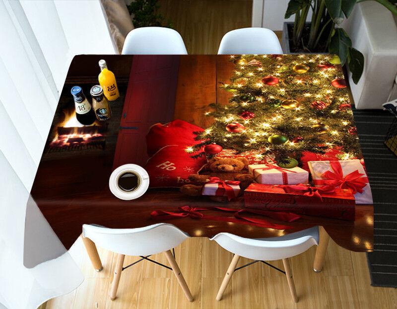 3D Navidad Navidad 4 mantel mantel tela cumpleaños fondos AJ