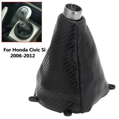 Car Manual PU Leather Gear Gaiter Shift Shifter Boot Replacement for Honda Civic 2006-2012