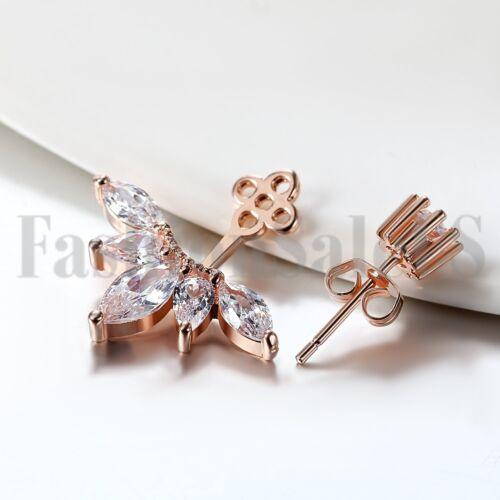 Women Fashion Jewelry Lady élégant plaqué zircone oreille Clous d/'oreilles 1 paire