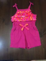 Game Winner Girls Romper Woodland One Piece Shorts Suit - 2t -