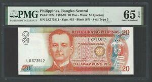 Philippines 20 Piso 1998-99 P182c Uncirculated Grade 65