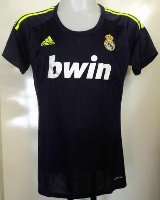 best service eeb4c 441af adidas Womens Real Madrid Football Shirt Dark Blue 2012-13 Away Jersey Size  XL