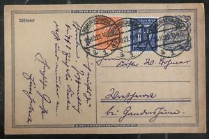 1922-Braunschweig-Germany-Postcard-Postal-Stationary-Uprated-Cover
