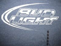 Bud Light Logo T Shirt Sz S Beer Brew Draft Bar Buds Pale Lager