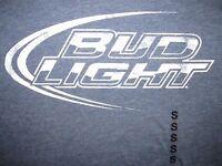 Bud Light Logo T Shirt Sz S Beer Brew Draft Bar Buds Pale Lager