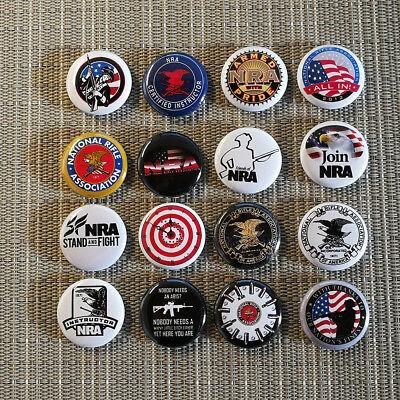16 Nra Usa / Amerika Waffen Lobby / National Rifle Association / 1 Inch Buttons Angenehm Zu Schmecken