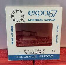 Vintage Montreal World Fair Expo 67 Terre des Hommes 2x2 slide Czechoslovakia
